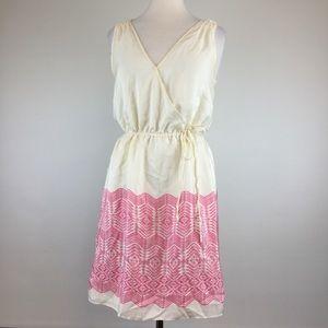 Banana Republic Multi Cream/Pink Dress Size S